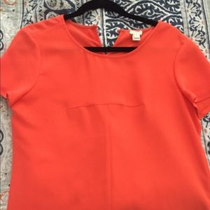 J Crew orange blouse